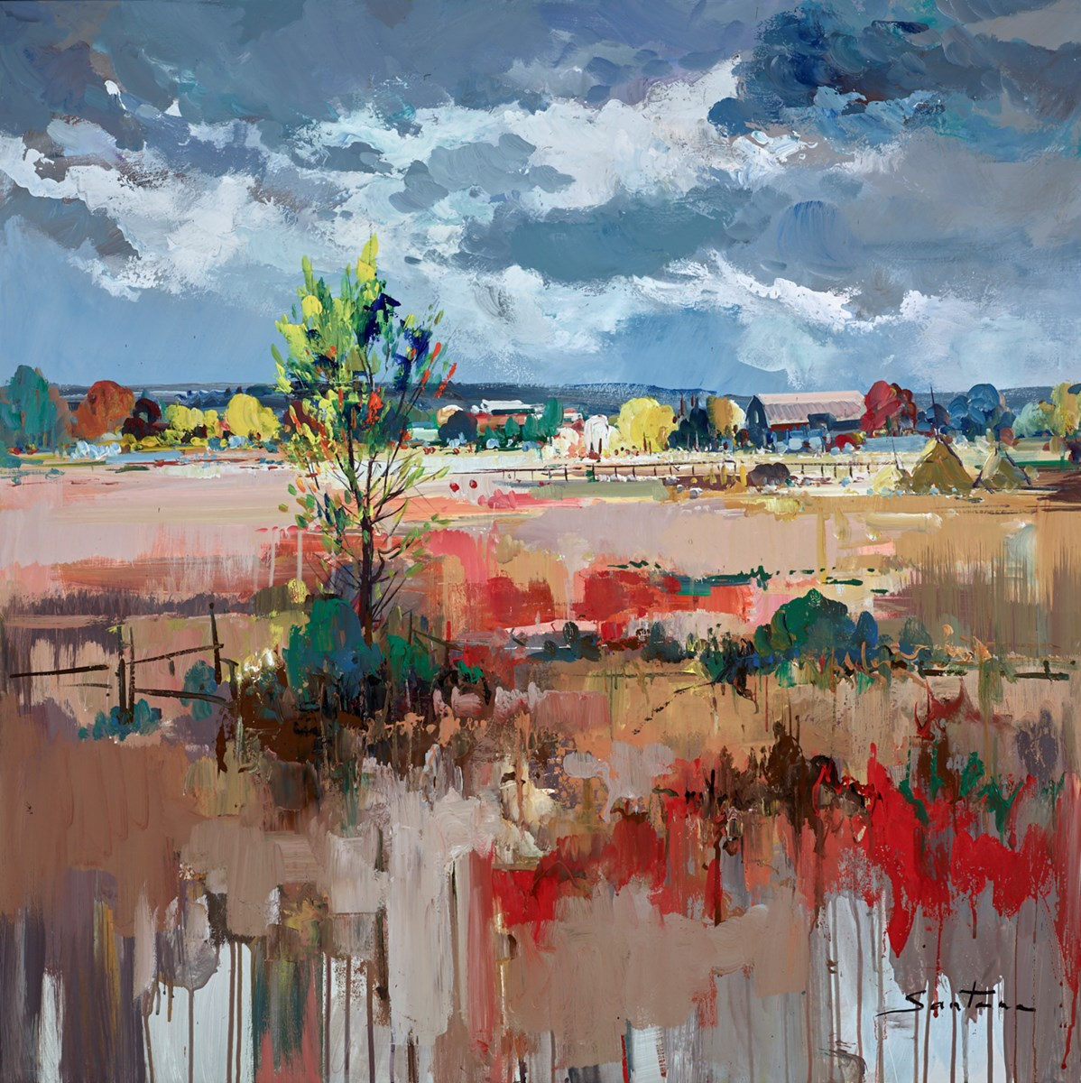 Pastoral I by santana -  sized 39x39 inches. Available from Whitewall Galleries